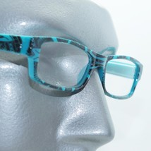 Reading Glasses Sharp Ink Style Tattoo Graffiti Frame +3.00 Turquoise Bl... - $22.00