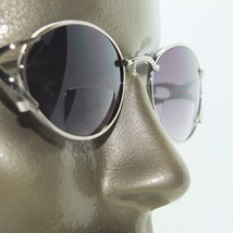 Silver Oval Metal Frame Bifocal Tinted Sun Reading Glasses Extra Strong +4.00 - $20.00