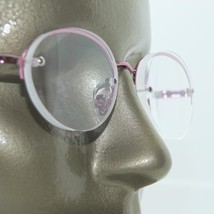 Pink Frameless Reading Glasses Hint of Color Tint High +4.00 Strength - $21.00