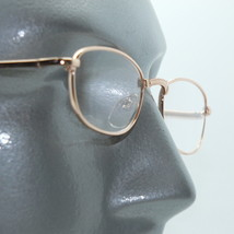 No Fuss Simple Metal Gold Wire Frame Reading Glasses +2.00 Lens Strength - $17.00