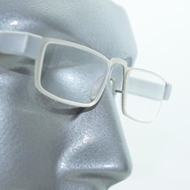 Reading Glasses Sleek Low Rise Half Eye Brushed Silver Metal Frame +2.50 Lens - $26.00