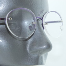 Reading Glasses Metal Purple Top Frame Rhinestone Trim Bottomless +2.00 Lens - $16.00
