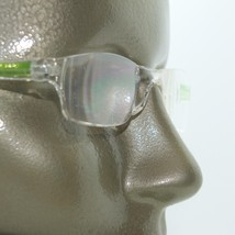 Frameless Lime Green Trim Invisible Lens Reading Glasses +3.75 Strength - $18.00