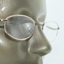 Reading Glasses Lightweight Shiny Gold Metal Frame Strong +4.00 Lens Str... - $18.00