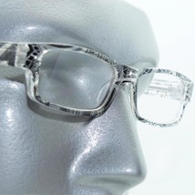 Reading Glasses Sharp Ink Style Tattoo Graffiti Frame +1.25 Clear Black - $22.00