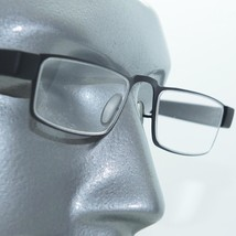 Reading Glasses Sleek Low Rise Half Eye Brushed Black Metal Frame +2.00 Lens - $26.00