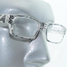 Reading Glasses Sharp Ink Style Tattoo Graffiti Frame +3.50 Clear Black - $22.00