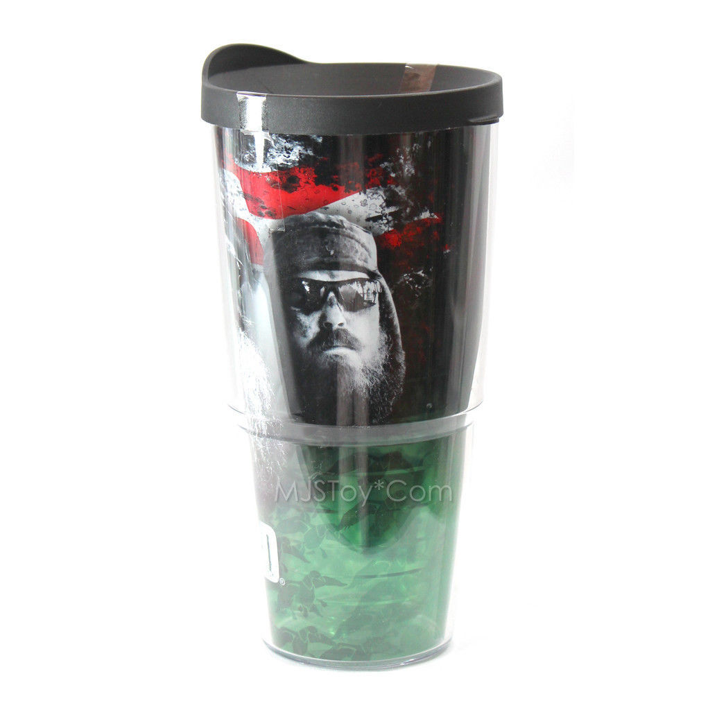 NEW Tervis 24 Oz. Tumbler FEAR THE BEARD Duck Dynasty Commander Phil Willie Jase