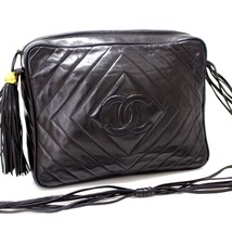 AUTHENTIC CHANEL Lambskin Leather Shoulder Bag ... - $870.00