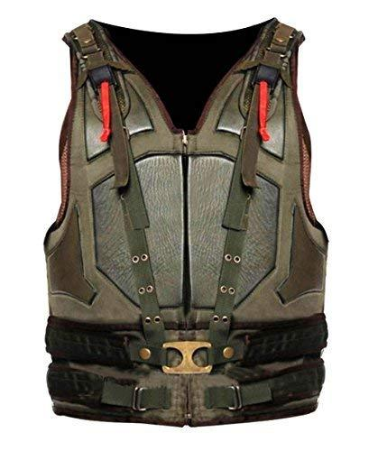 Mens Bane Vest Dark Knight Rises Tom Hardy Leather Costume