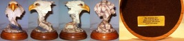 Large Polyresin Eagle Head on Wood Base - $20.00