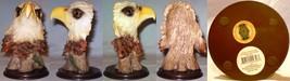 Medium Polystone Eagle Head on Plastic Base - $15.00