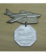 W.I.B.C. dayton Ohio 1957 bowling tournament medal air force plane FREE ... - $16.95