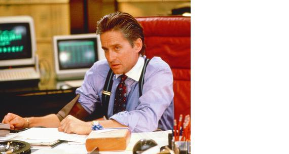 Primary image for Wall Street Michael Douglas Vintage 11X14 Color Movie Memorabilia Photo