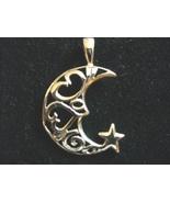Cresent Moon & Star Pendant - $10.00