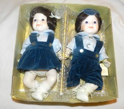 Brinn's Seymour Mann porcelain doll collection Twins Chrissy & Jonathan - $75.00