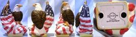 Porcelain Eagle Atop Flag - $20.00
