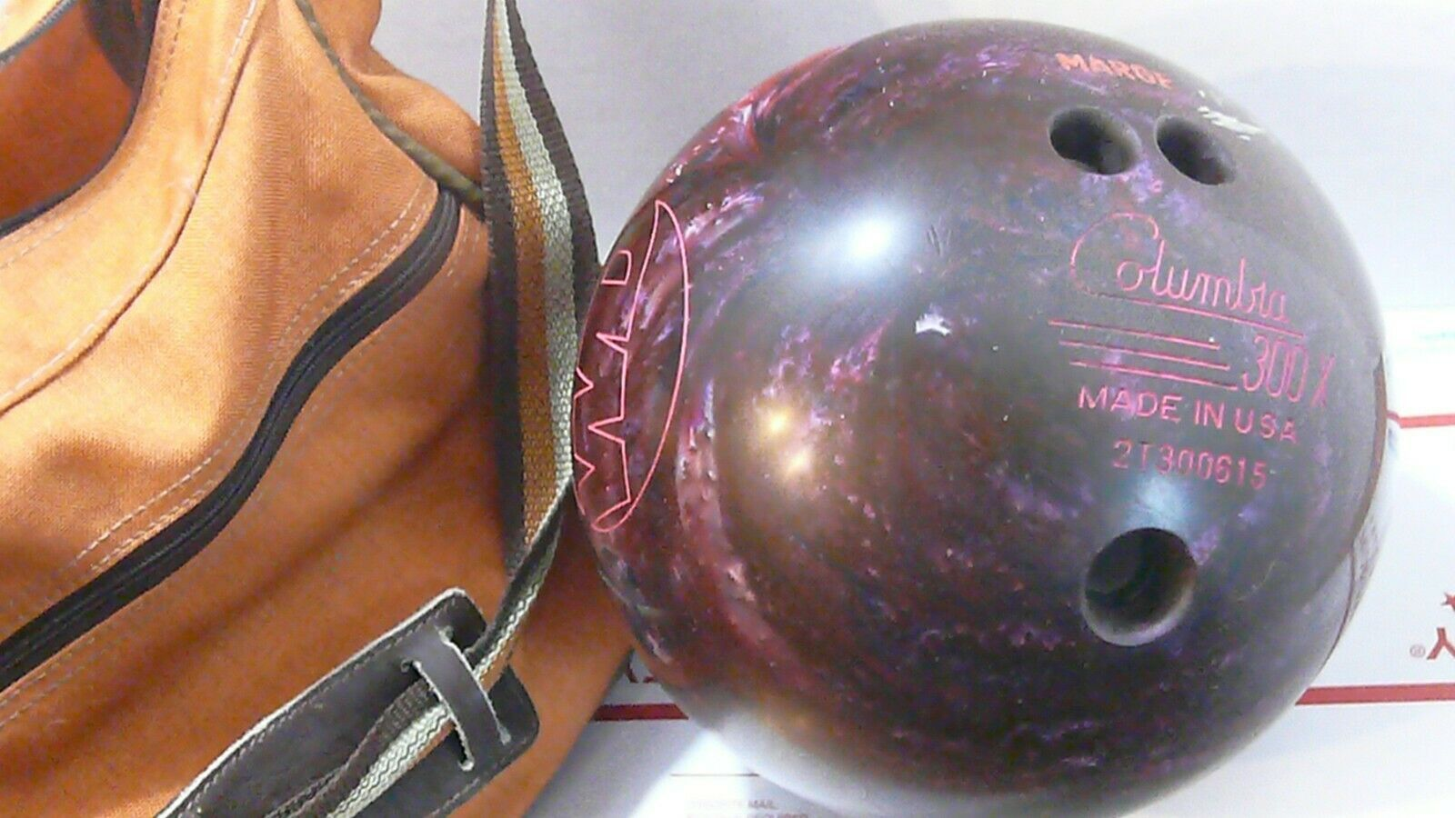 Primary image for Columbia 300X Purple Galaxy 11Lb Ball and Sling Bag - Good Pre-Owned Condtion