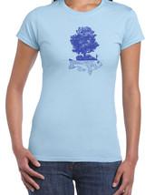 148 Fish Island women's T-Shirt art creative fisherman island cool Sizes... - $15.00