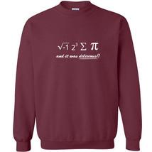 050 I Ate Some Pi Crew Sweatshirt funny math nerd equation geek All Size... - $20.00