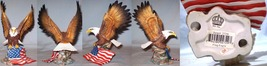 Porcelain Eagle Flag in Talons - $20.00