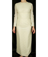 Vintage Winter White Handmade Custom Made Lace Wedding Dress - $119.99