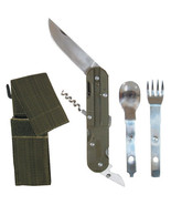 European Military 4-in-1 Knife Fork Spoon Screw Survival Camping Chow Se... - $14.65