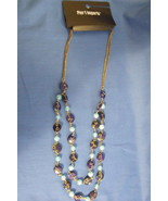 Pier 1 Imports New Double Strand Drop Beaded Blue Necklace - $12.95