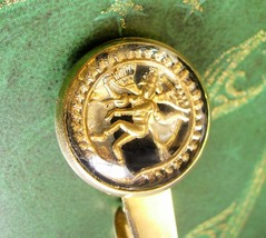 Vintage Goddess Tie Clip Gold Filled Siam Asian Tie Clasp Men's Exotic A... - $50.00