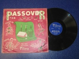 TIKVA RECORDS PASSOVER LP HEBREW JEWISH ABRAHAM... - $49.01