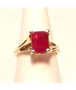 Genuine Ruby 14K Gold Ring 5.25ct Sz 7 MADE IN USA - $1,100.00