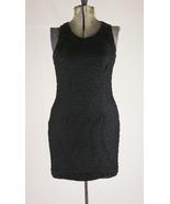 Vintage Black Beaded Sheer Laurence Kazar Silk Wiggle Dress - $59.99