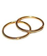 12mm 22K GOLD OVER SOLID STERLING SILVER HINGED HOOP EARRINGS, Easy On &... - $11.49