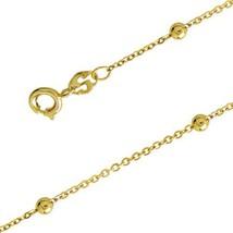 "Childrens 5.5"" 18K SKILLUS Gold Bracelet with B... - $8.29"