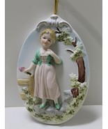 Vintage ARDCO Fine Quality Dallas Japan Wall Plaque - Old World Girl - $10.00