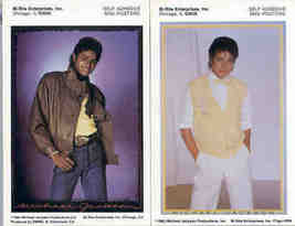 MICHAEL JACKSON 1983 Mini-Poster Stickers 2 Different - $6.98