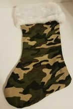 "Camo Christmas Stocking Hunters Military by North Star Creations 17"" Long - $12.60"
