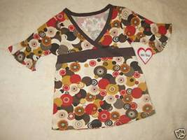 GIRLS 6X - Girl Time - Brown/Gold/Gray/Rust Pullover BLOUSE - $8.50