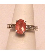 Oregon Sunstone Sterling Silver Ring 1.7 ct Sz 6.5 MADE IN USA - $315.00