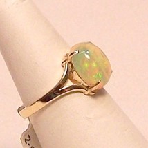 Genuine Opal 14KY Gold Ring 2.2 ct Sz 6 MADE IN... - $649.00