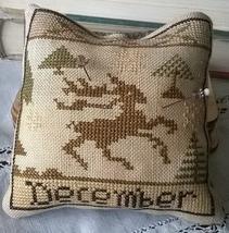 December Deer Calendar Of Animals cross stitch chart Niky's Creations - $12.60