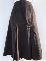Ann Taylor Loft 100% Wool A-Line Skirt Pleated Lined Womens Size 4 Office Wear - $23.33