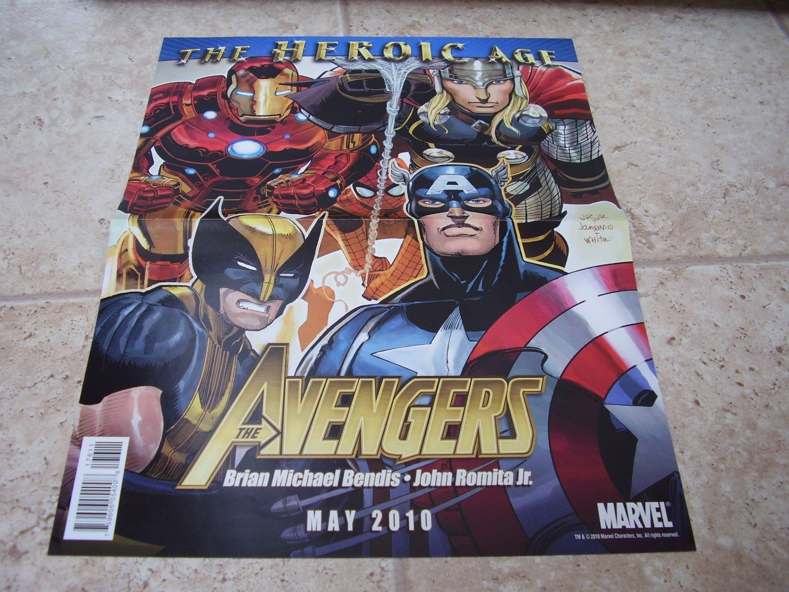 Primary image for Avengers and Secret Avengers Heroic Age folded promo poster Mike Deodato