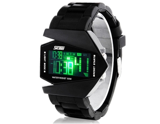 Primary image for Skmei 0817 5ATM Water Resistant Digital Airplane Shaped Sports Watch with