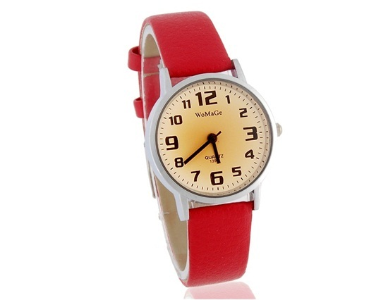Primary image for WoMaGe 139-7 Women's Analog Watch with PU Leather Strap (Red)