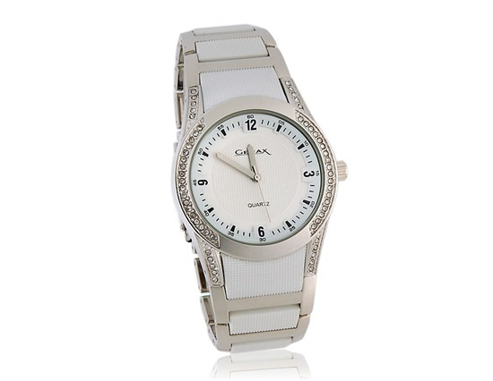 Primary image for GEMAX 6203 Round Dial Watch with Rhinestone Decoration (White)