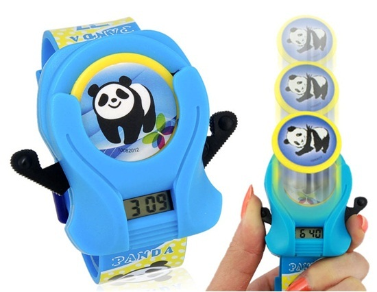Primary image for Kids' Cartoon Digital Watch with Panda Disc (Blue)