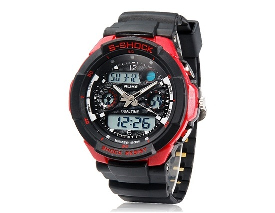 Primary image for AK1170 Round Dial AL35 Movement 50 m Waterproof Analog & Digital Sports