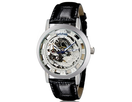 Primary image for G8111 Unisex Hollow Design Manual Wind-up Mechanical Watch (Silver)