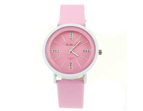 Primary image for 9571 Fashionable Crystal Quartz Wrist Watch (Pink)